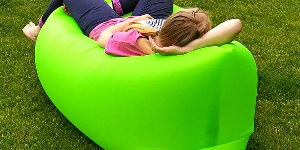 Sedací vak Lazy Bag HooUp green