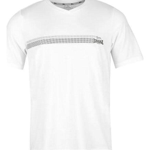 Značkové pánské triko LONSDALE V bílé