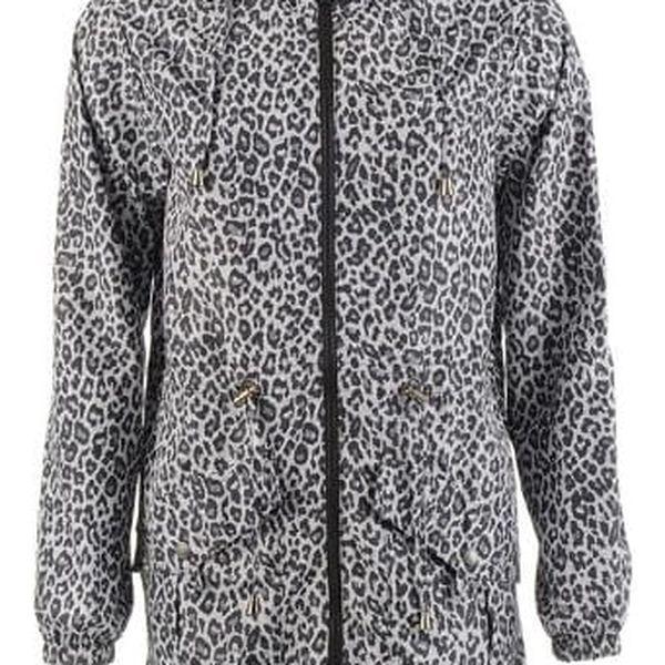 Dlouhá dámská bunda Lee Cooper leopard
