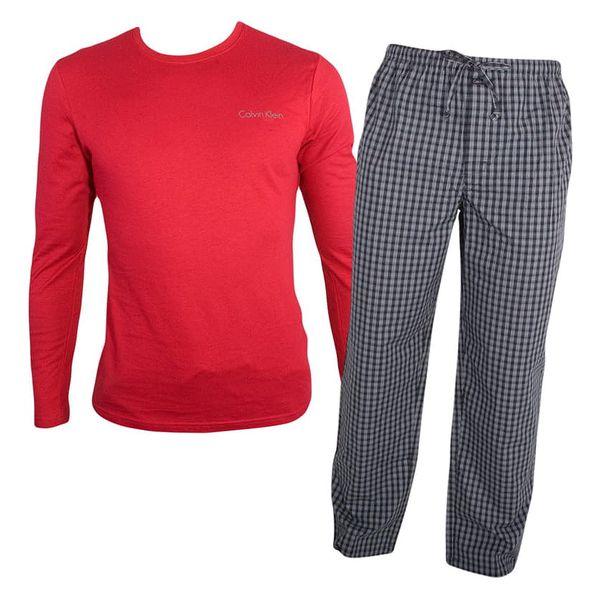 Pánské pyžamo Calvin Klein červeno černé