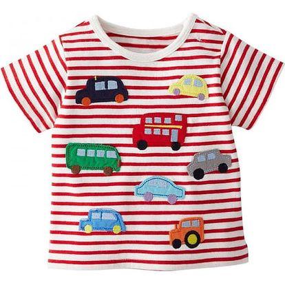 Dětské bavlněné tričko s autíčky