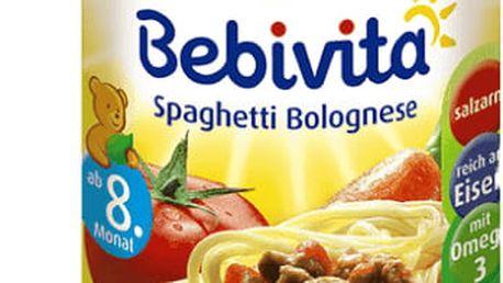 6x BEBIVITA Boloňské špagety (220 g) - masozeleninový příkrm
