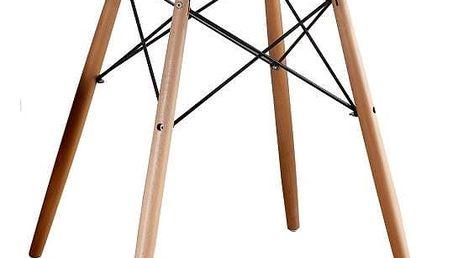 Jídelní stůl, dřevo + MDF, bílá, GAMIN 90