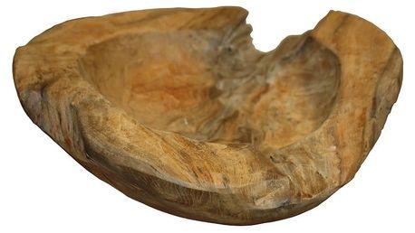 Mísa na ovoce z teakového dřeva HSM collection Mara,⌀20cm