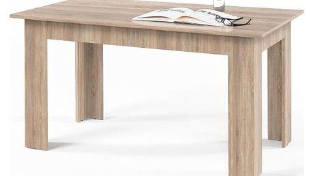 Jídelní stůl, dub sonoma, 140x80 cm, GENERAL