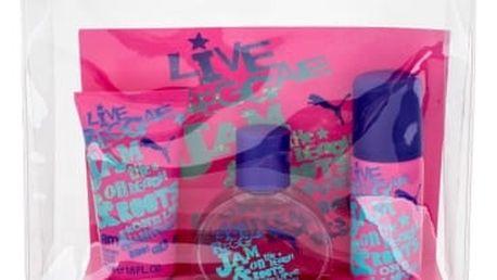 Puma Jam Woman dárková kazeta pro ženy toaletní voda 40ml + sprchový gel 50 ml + deospray 50 ml