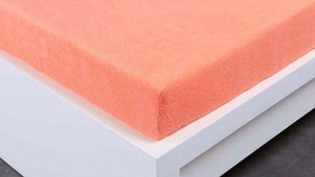 XPOSE ® Froté prostěradlo Exclusive dvoulůžko - lososová 160x200 cm