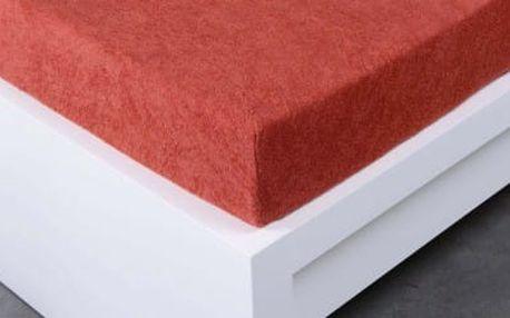 XPOSE ® Froté prostěradlo dvoulůžko - cihlová 180x200 cm