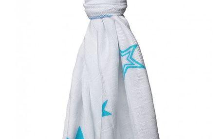 KIKKO Bambusová osuška/plena Stars 90x100 (1 ks) – turquoise