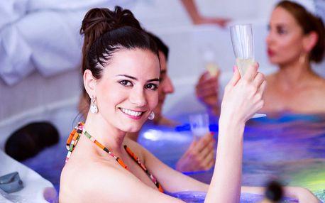 Privátní vířivka až pro 5 osob i s lahví sektu