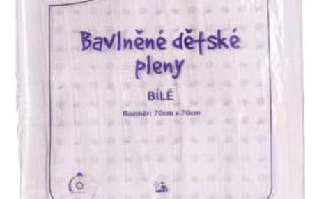KIKKO Bavlněné pleny Classic 70x70 (10 ks) - bílé