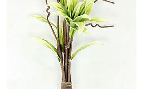 Magnolie ve vazbě, béžovo-zelená umělá pěnová