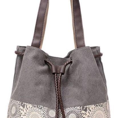 Dámská kabelka s květinovým zdobením - 5 barev