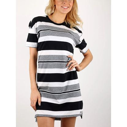 Šaty Converse STRIPED TEE DRESS Černá