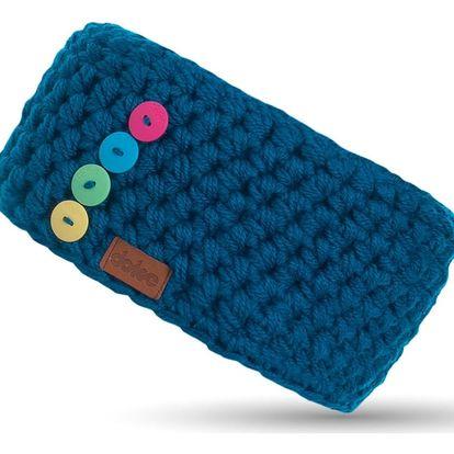 Modrá ručně háčkovaná čelenka DOKE Milo
