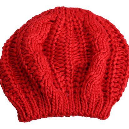 Pletený baret - 7 barev