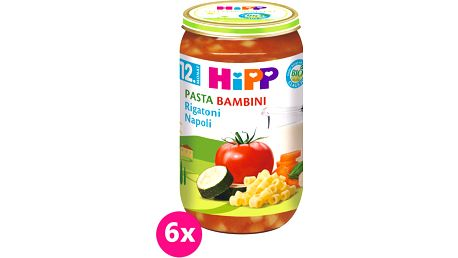6x HIPP BIO PASTA BAMBINI Rigatoni Neapol, 250 g - zeleninový příkrm