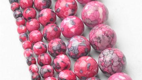Růžové korálky na navlékání - 5 průměrů