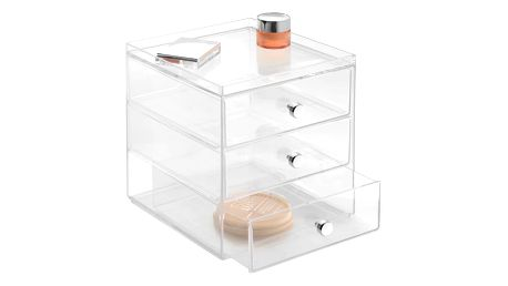 Transparentní organizér InterDesign Drawers, 3šuplíky, výška18 cm