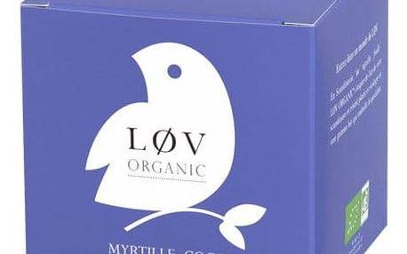 Løv Organic Bílý čaj Blueberry Coconut - 20 sáčků, fialová barva, papír