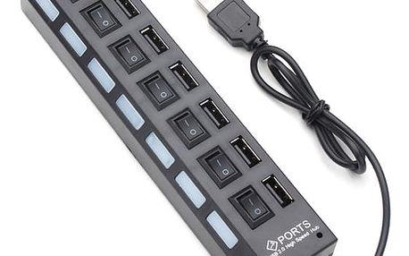 USB hub se 7 porty - 2 barvy