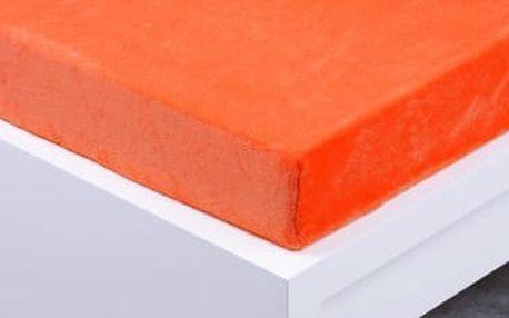 XPOSE ® Prostěradlo mikroflanel Exclusive dvoulůžko - oranžová 140x200 cm