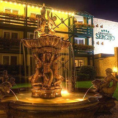3 až 4denní wellness pobyt pro 2 osoby v Grand Boutique hotelu Sergijo**** v Piešťanech