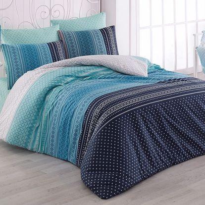 Bedtex povlečení bavlna Summer Modré, 140 x 220 cm, 70 x 90 cm