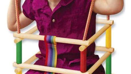 WOOD 41495 Klasická závěsná dětská houpačka WOOD