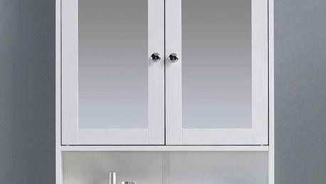 Skrinka so zrkadlom bianca, 56/58/13 cm
