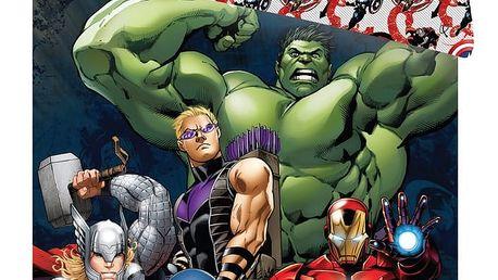 Jerry Fabrics dětské bavlněné povlečení Avengers 2016 140x200 70x90