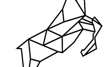 Samolepka Ambiance Origami Reindeer