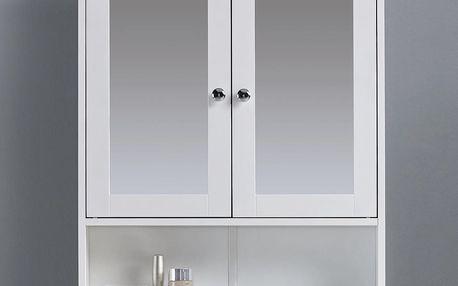 Skřiňka se zrcadlem bianca, 56/58/13 cm