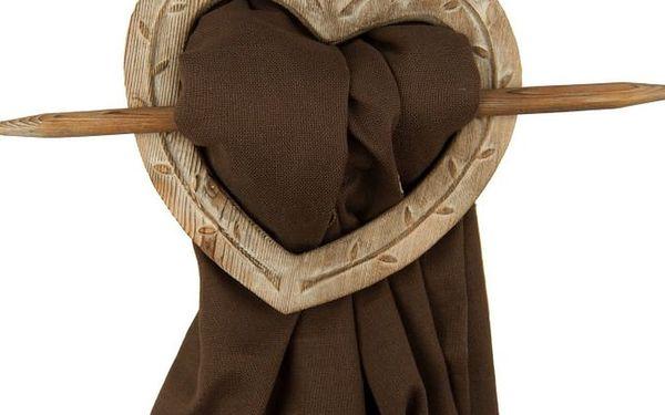 Držák na závěs Antic Line Heart Nature