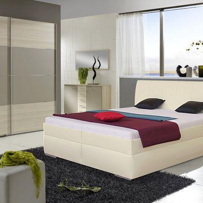 Prostorná čalouněná postel LIANA 2 180x200 cm vč. roštu a ÚP