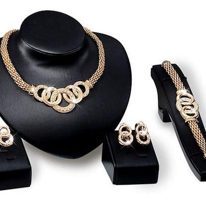 Set dámských šperků - zlatá barva
