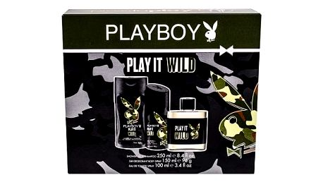 Playboy Play It Wild For Him EDT dárková sada M - EDT 100 ml + sprchový gel 250 ml + deodorant 150 ml