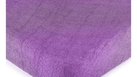 4Home froté prostěradlo fialová, 90 x 200 cm