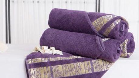 XPOSE ® Bambusová osuška MINA - fialová 70x140 cm