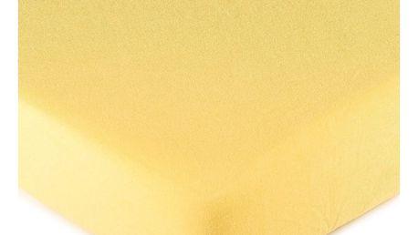 4Home jersey prostěradlo žlutá, 90 x 200 cm