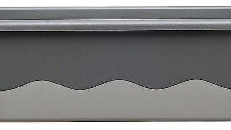 Samozavlažovací truhlík Mareta 60 + hák antracit, Plastia