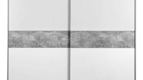 Skříň s posuvnými dveřmi basic, 170/195/60 cm