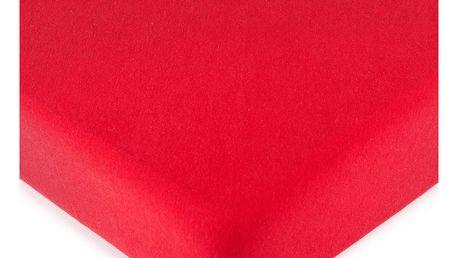 4Home jersey prostěradlo červená, 90 x 200 cm