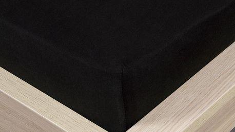 4Home jersey prostěradlo černá, 90 x 200 cm