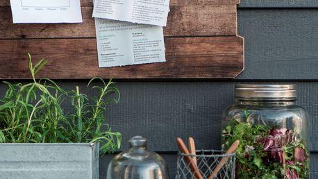 IB LAURSEN Dřevěná tabule s klipy, hnědá barva, dřevo