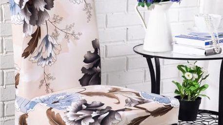 Potah na židli s květy