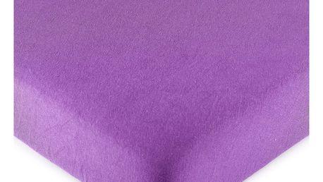 4Home jersey prostěradlo fialová, 180 x 200 cm