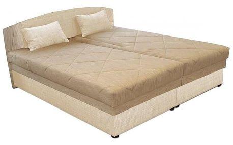 Čalouněná postel Kappa 180x200 cm, béžová, s úložným prostorem