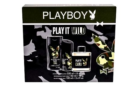 Playboy Play It Wild For Him EDT dárková sada M - EDT 100 ml + sprchový gel 250 ml + deodorant 150 ml