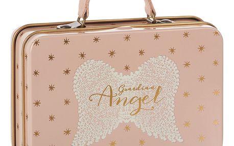 Maileg Plechový kufřík Rose Gold Stars, růžová barva, kov